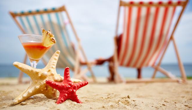 Une plage évoquant les vacances