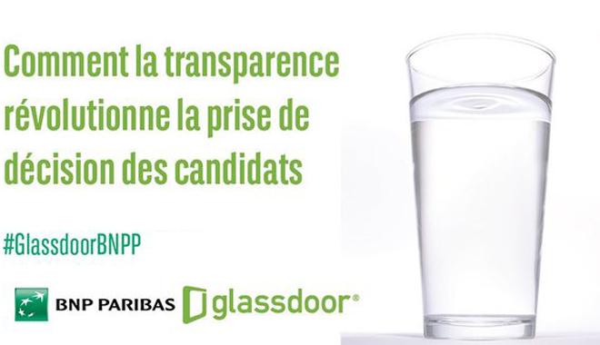 illustration de la conférence organisée par GLassdoor et BNP Paribas sur la transparence et la décision candidats