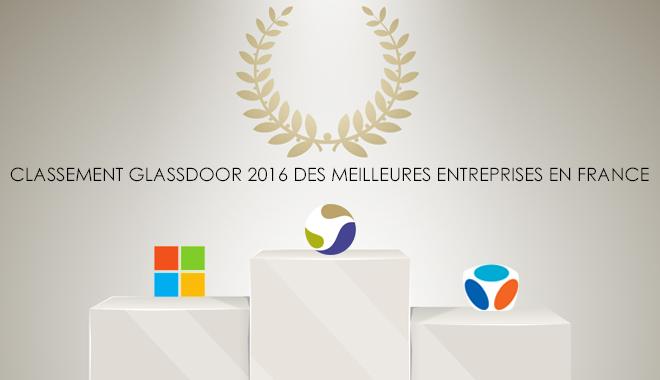 Glassdoor : meilleures entreprises France en 2016