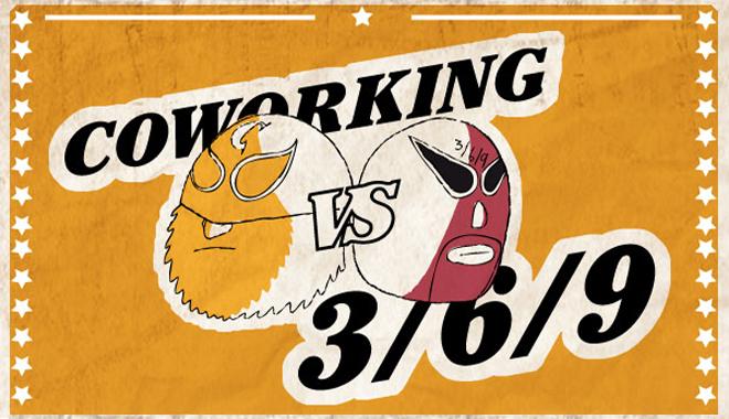 Combat de lucha libre entre coworking et 3/6/9