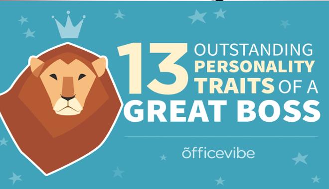 En-tête de l'infographie présentant un lion comme un manager