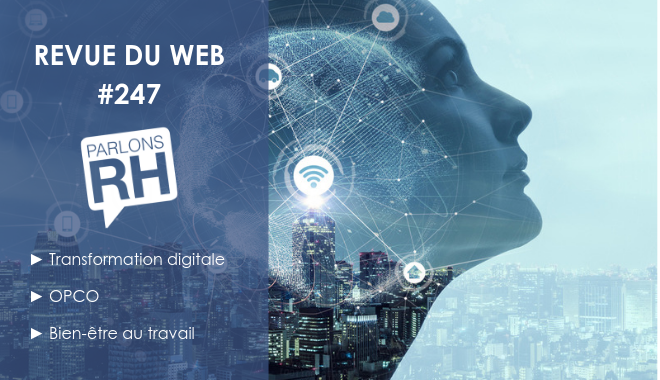 Revue du web #247 : transformation digitale, OPCO, bien-être au travail