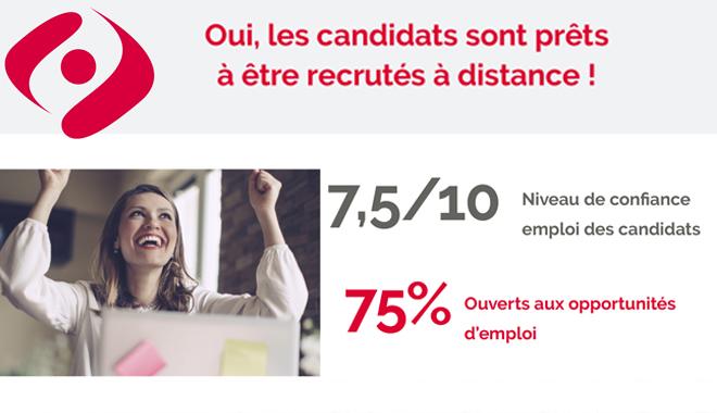 Recrutement à distance : les candidats se disent prêts