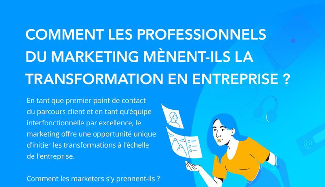 Transformation en entreprise : comment les professionnels du marketing s'y prennent-ils ?