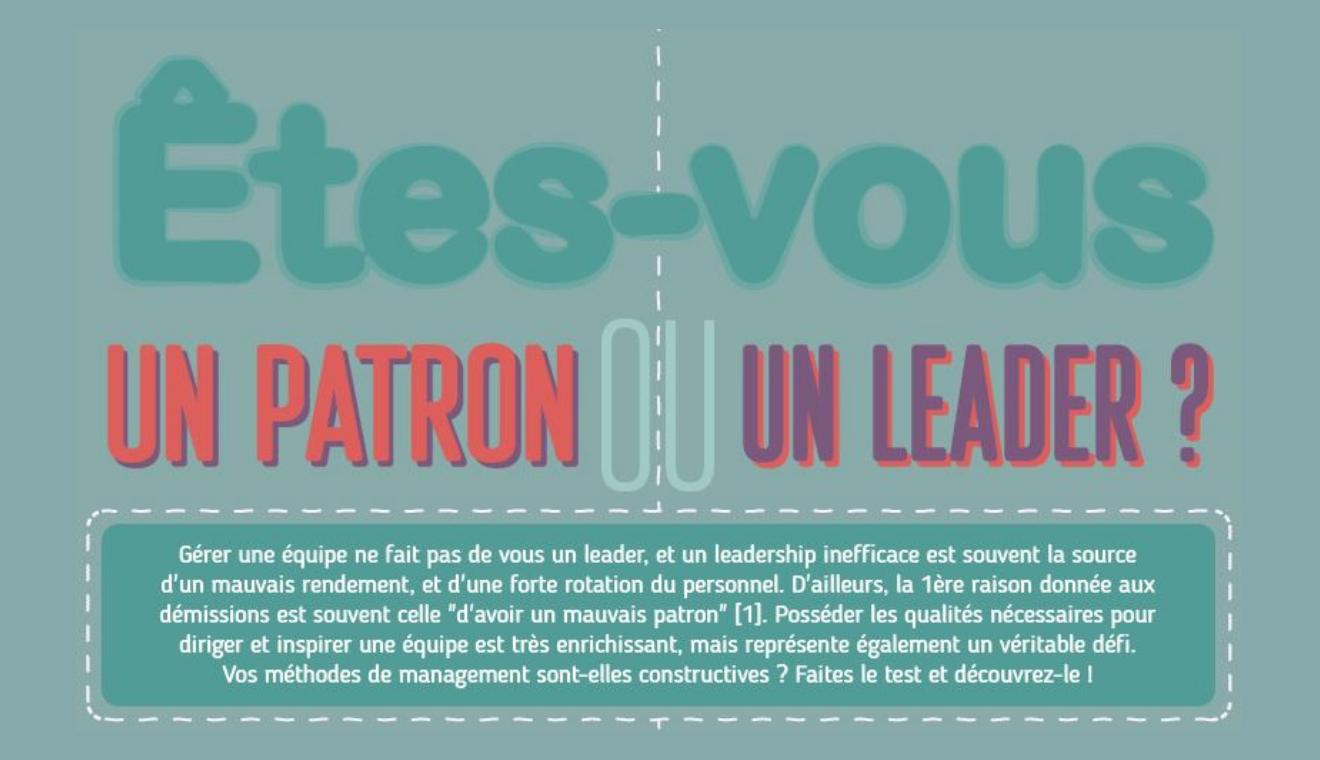 [PARLONS RH] Média infographie patron leader