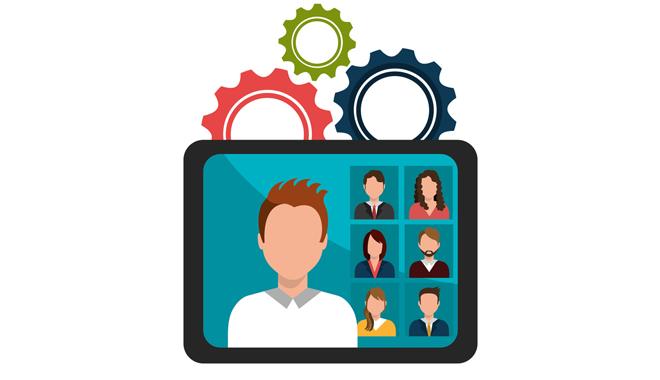 revue du web 76 digital management rh représenté par une tablette