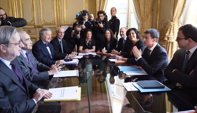 Remise du rapport Badinter, formation et QVT
