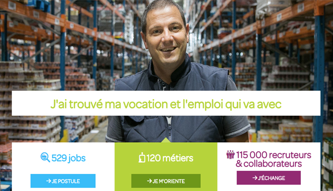 Le nouveau site de recrutement de Carrefour France