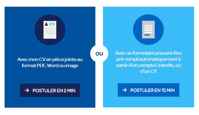 Carrefour site de recrutement - deux façons de postuler