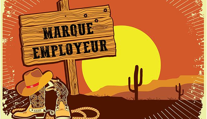 La marque employeur sur un panneau de western