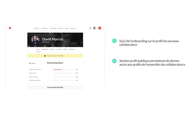 HeyTeam permet de créer des parcours d'intégration personnalisés