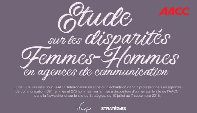 infographie értude sur la disparité homme femme en agence de communication