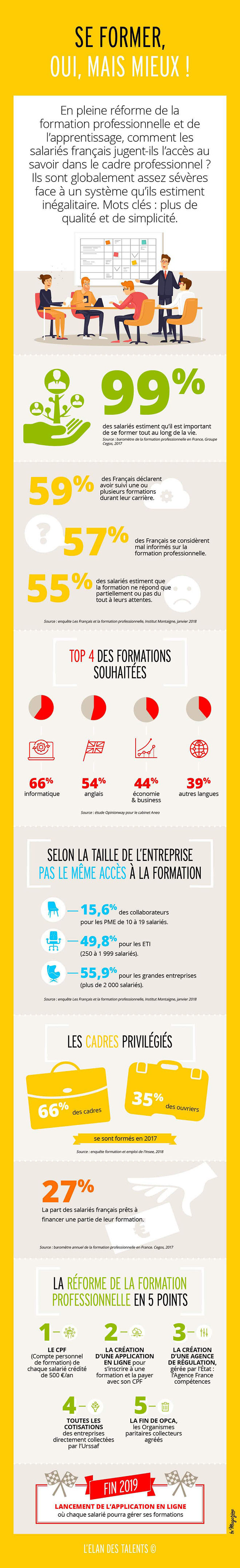 Formation professionnelle : infographie elan