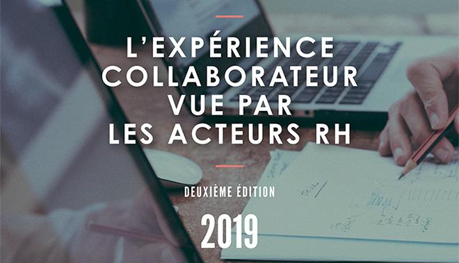 L'expérience collaborateur vue par les acteurs RH baromètre Parlons RH 2019