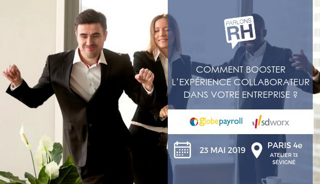 L'événement Parlons RH et GlobePayroll sur l'expérience Collaborateur