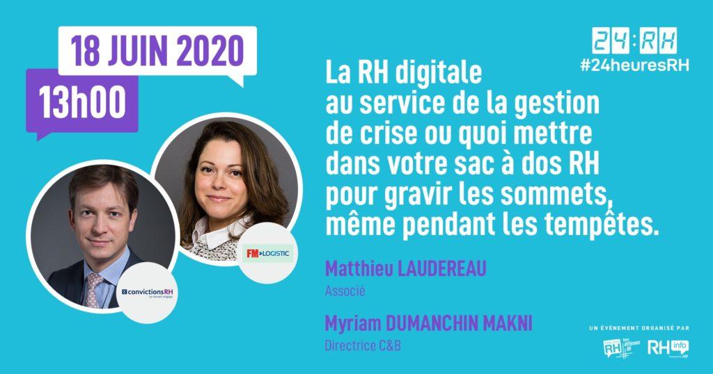 #24heuresRH - RH digitale et gestion de crise : que mettre dans votre sac à dos RH pour gravir les sommets
