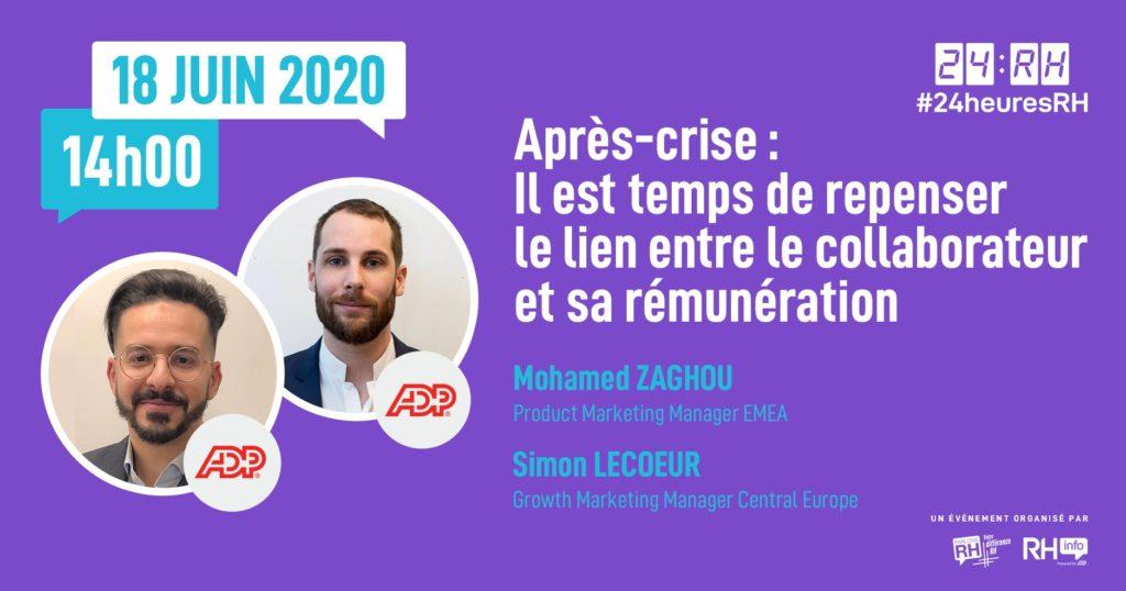 #24heuresRH - Après-crise : Il est temps de repenser le lien entre le collaborateur et sa rémunération
