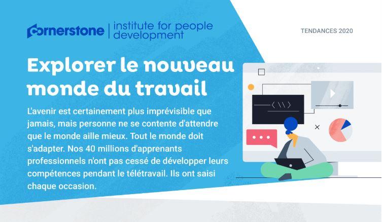 Infographie Cornerstone apprentissage en ligne