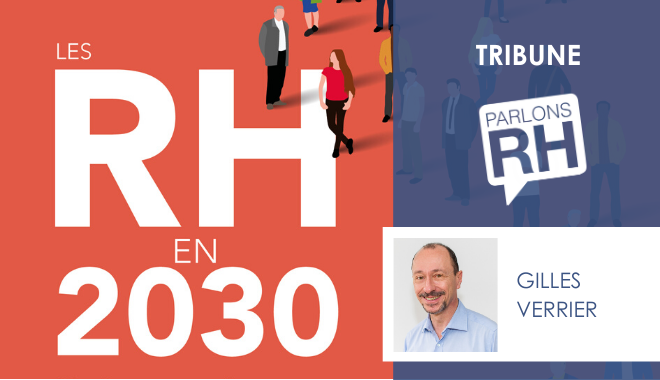 """Image de la couverture du livre """"Les RH en 2030"""" de Gilles Verrier"""