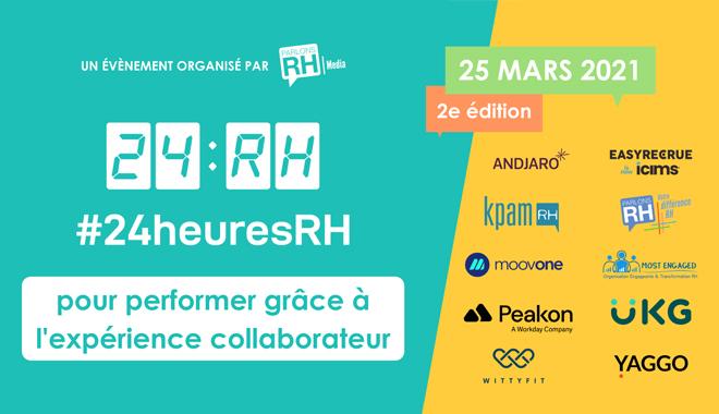#24heuresRH : une journée de conférences en ligne dédiée à l'expérience collaborateur